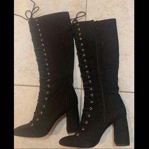Bcbgeneration black lace-up boots NWOT